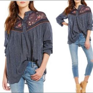 Free People Hearts and Colors Tunic, size small.